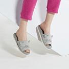Yvonne Collection 貓咪立體造型開口拖鞋-淺灰L