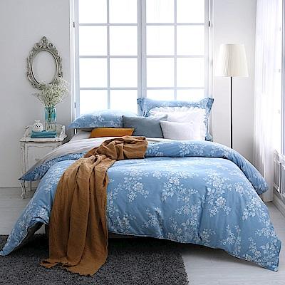 BBL Premium 水漾玫瑰100%精梳棉印花兩用被床包組(加大)