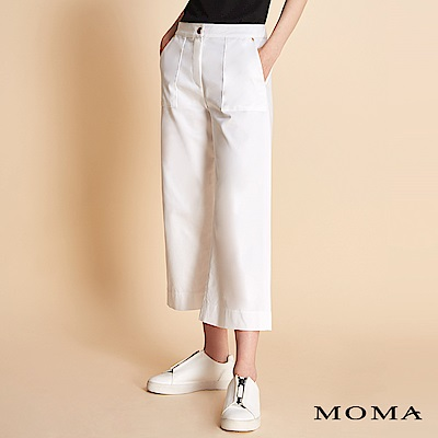 MOMA-壓車口袋錦棉褲