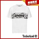 Timberland 男款白色品牌圖案短袖T恤 A1XRM