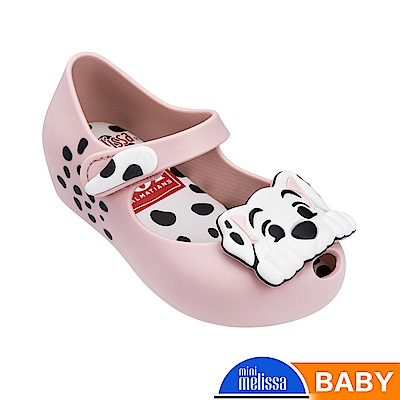 Melissa 101忠狗造型魚口娃娃鞋-寶寶款-粉