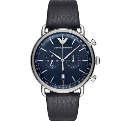 Emporio Armani 復刻時尚計時腕錶(AR11105)藍色/43mm