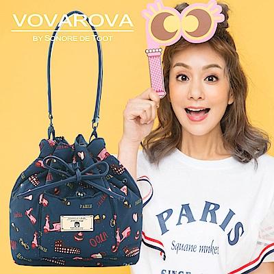 VOVAROVA x 莎莎-口袋水桶包-金莎假期-環遊世界系列