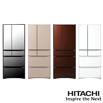 HITACHI 日立家電  621L日本原裝變頻六門冰箱 RG620HJ