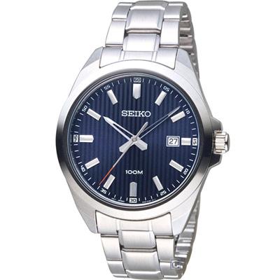 SEIKO 精工 時尚紳士腕錶(SUR275P1)藍/42mm