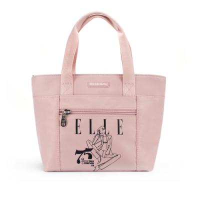 【ELLE Active】75周年限定系列-手提包/手提袋-小-粉紅色