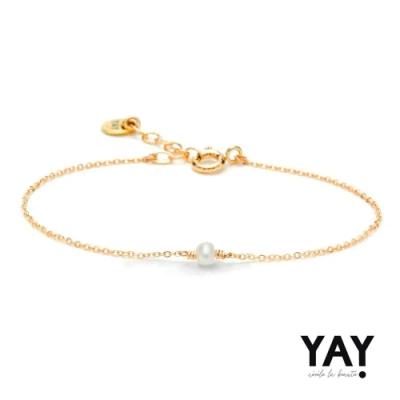 YAY You Are Young 法國輕珠寶品牌 Stella 浪漫白珍珠手鍊
