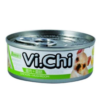 維齊Vi.Chi 《經典 機能狗罐-雞肉+蘑菇》80g 24罐組