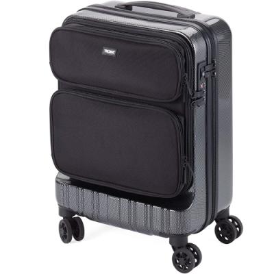德國TROIKA商務出差36 HOURS TROLLEY隨身手提18.5吋行李箱LUG02/CB(TSA密碼鎖;雙排雙輪飛機輪;抗震聚碳酸酯)登機箱旅行箱