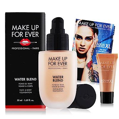 MAKE UP FOR EVER 恆久親膚雙用水粉霜50ml+超持久顯色眼彩霜