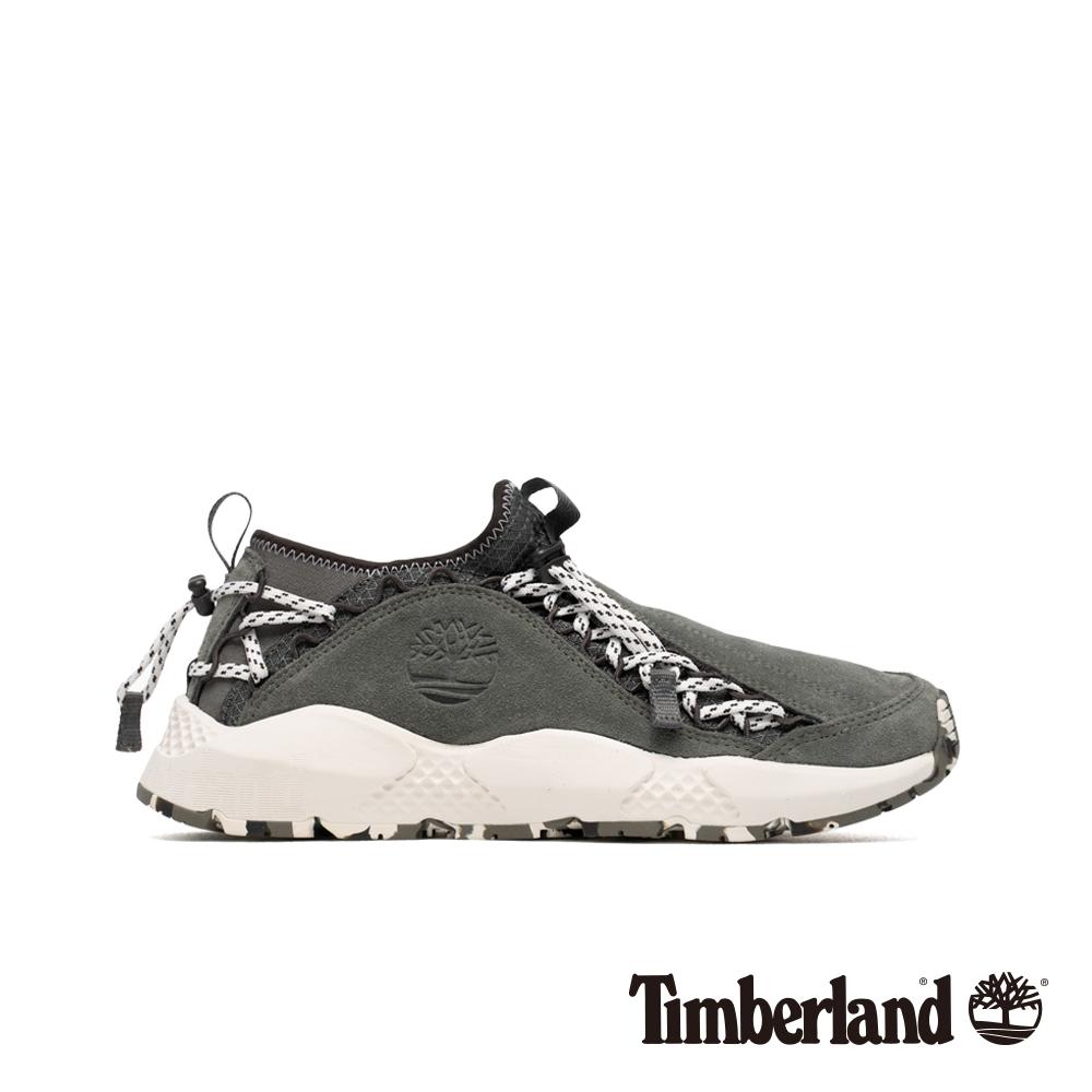 Timberland 男款NNH灰色正絨面皮革運動鞋 A1WBF