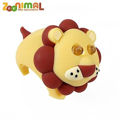ZOONIMAL 無毒材質可愛動物LED公仔單車用前燈-李奧獅