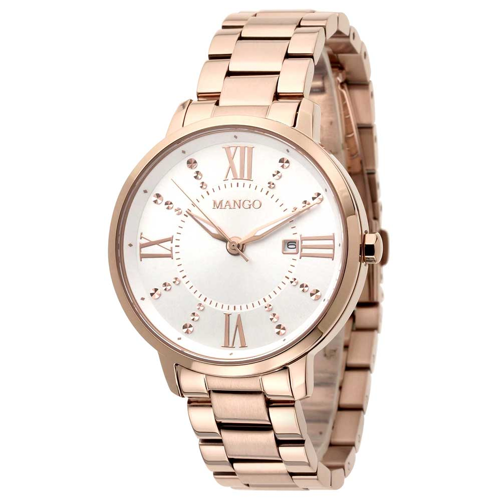 MANGO春意盎然時尙腕錶-玫金/36mm @ Y!購物