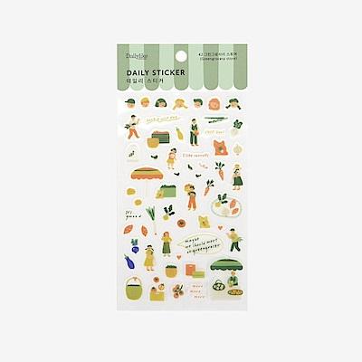 Dailylike 日日美好裝飾透明貼紙-42蔬果店