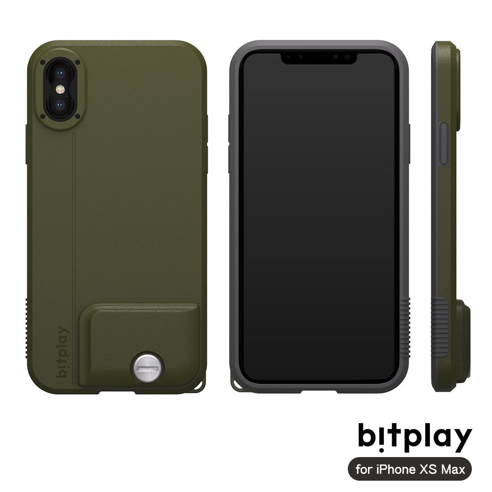 bitplay SNAP! iPhone XS Max專用 全包覆輕量防摔相機殼 潮軍綠