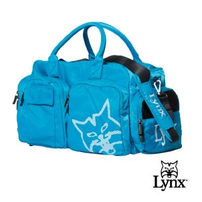 【Lynx Golf】男女Lynx山貓印花鞋袋設計旅行外袋/運動衣物袋-淺藍色