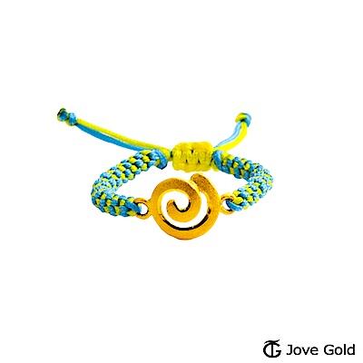 Jove gold 漩渦黃金編織繩戒指