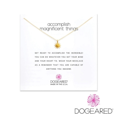 美國DOGEARED 光芒閃爍星星鍍金祈願項鍊 Accomplish Magnificent Things Necklace