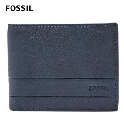FOSSIL Lufkin 多卡兩折短夾-靛藍色 SML1391405