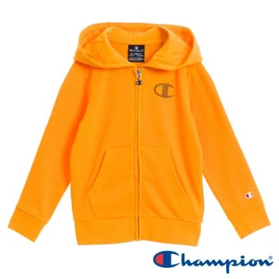 Champion EU童C Logo連帽外套 橘黃色