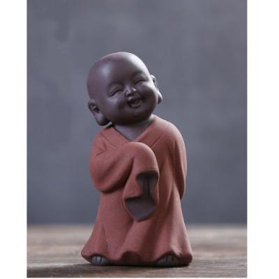 原藝坊紫砂陶瓷 歡欣鼓舞 小沙彌擺飾(舞 小和尚)