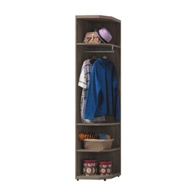 柏蒂家居-凱文1.5尺開放式衣櫃/轉角櫃-46x46x202cm