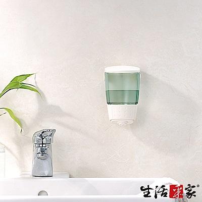 生活采家 幸福手感單孔手壓式給皂機500ml-典藏純白
