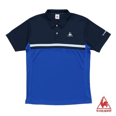 法國公雞牌短袖POLO衫 LLN2144236-男-寶藍