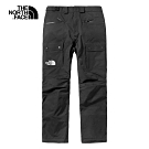 The North Face北面男款黑色防水衝鋒褲|3M42JK3