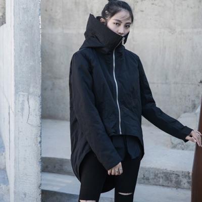 設計所在Style-個性韓版中性兩穿寬鬆棉衣外套