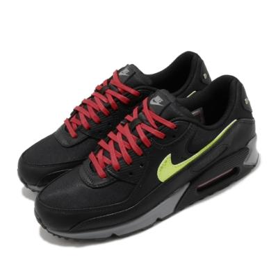 Nike 休閒鞋 Air Max 90 Premium 男鞋 海外限定 經典款 避震 皮革 穿搭 黑 紅 CW1408001