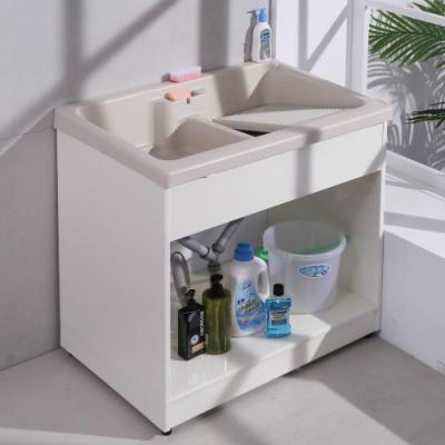 【LOGIS】雙槽無門櫃體洗衣槽 86CM * 58CM 洗手台