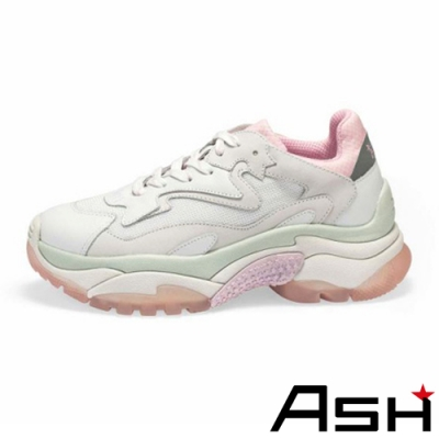 ASH-ADDICT潮流復古撞色厚底時尚增高老爹鞋-粉