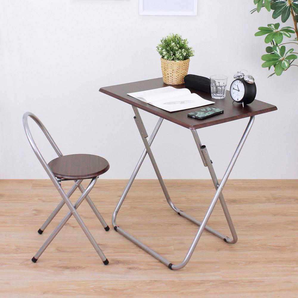 頂堅 [1桌1椅]長方形折疊桌椅組/洽談桌椅組/餐桌椅組(二色)