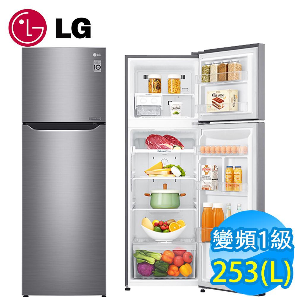 [時時樂限定] LG樂金 253L 一級能效直驅變頻上下門冰箱(精緻銀)GN-L307SV