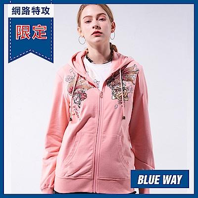 網路限定_日本藍 BLUE WAY-金標情人鎖連帽外套(粉紅)
