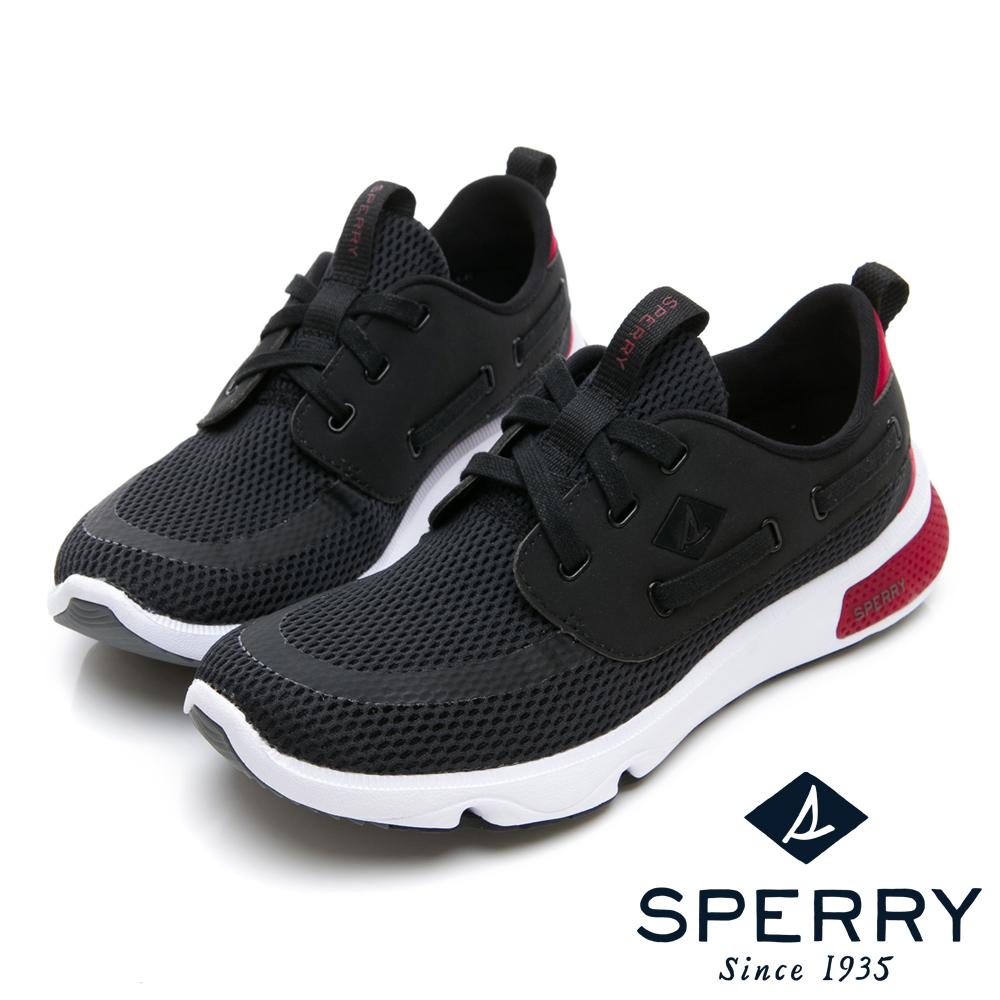 SPERRY 7SEAS亮眼撞色休閒機能鞋(中性款)-黑