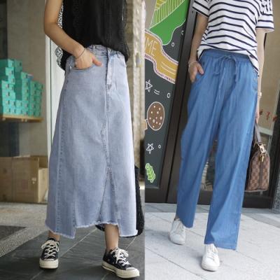 [時時樂限定] 小資最愛的高cp值多款寬褲牛仔裙單一特價