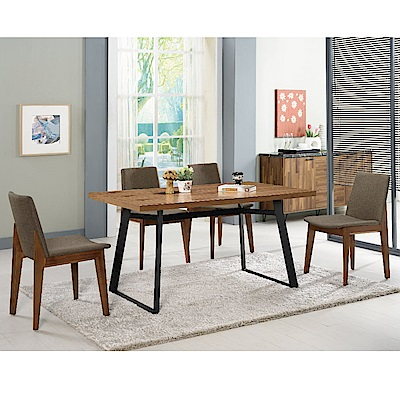 MUNA 提姆4.3尺餐桌(1桌4椅)艾略特布餐椅 130X80X74.5cm