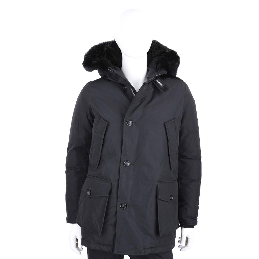 Woolrich Arctic Parka 防潑水可拆狐狸毛領黑色連帽羽絨外套(男款)