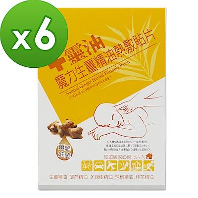 【十靈本舖】魔力生薑精油熱敷貼片(5片/盒) 6盒組