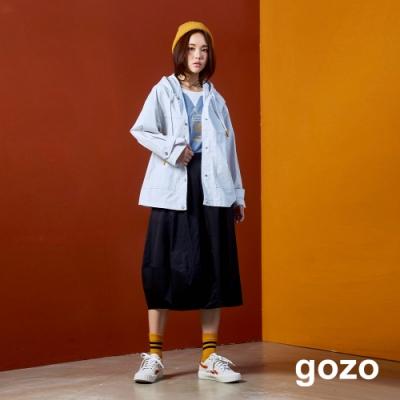 gozo 造型多口袋抽皺中長裙(二色)
