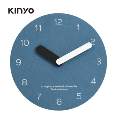 KINYO 10吋無框超薄掛鐘(藍)CL205BU