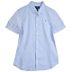 POLO Ralph Lauren 品牌LOGO馬球刺繡棉質短袖襯衫(淺藍) product thumbnail 1