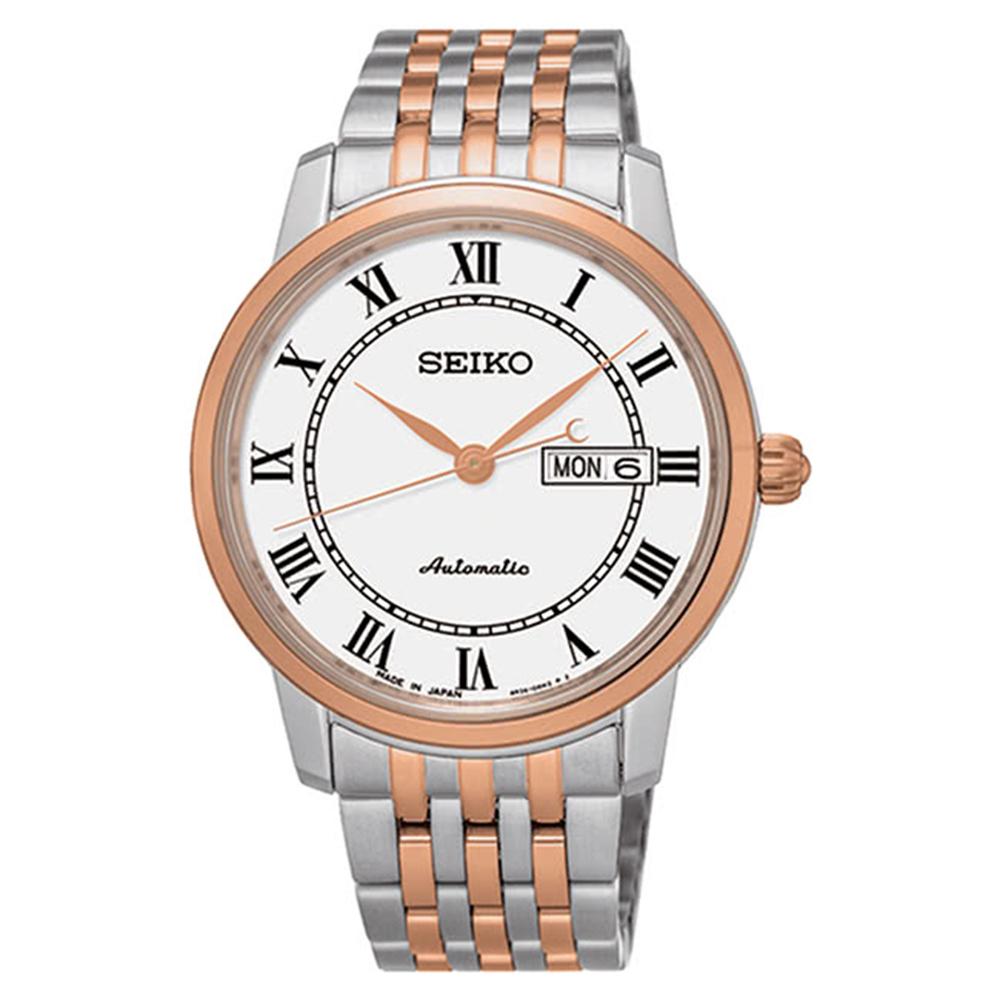 SEIKO精工Presage羅馬拼色日期窗機械錶SRP766J1/4R36-04E0G