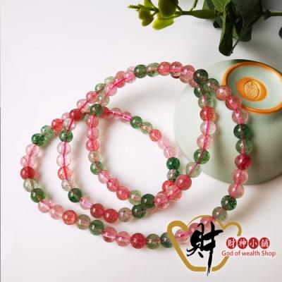 財神小舖 甜蜜愛戀 雙色草莓晶手鍊-繞三圈  (含開光) EB-3006