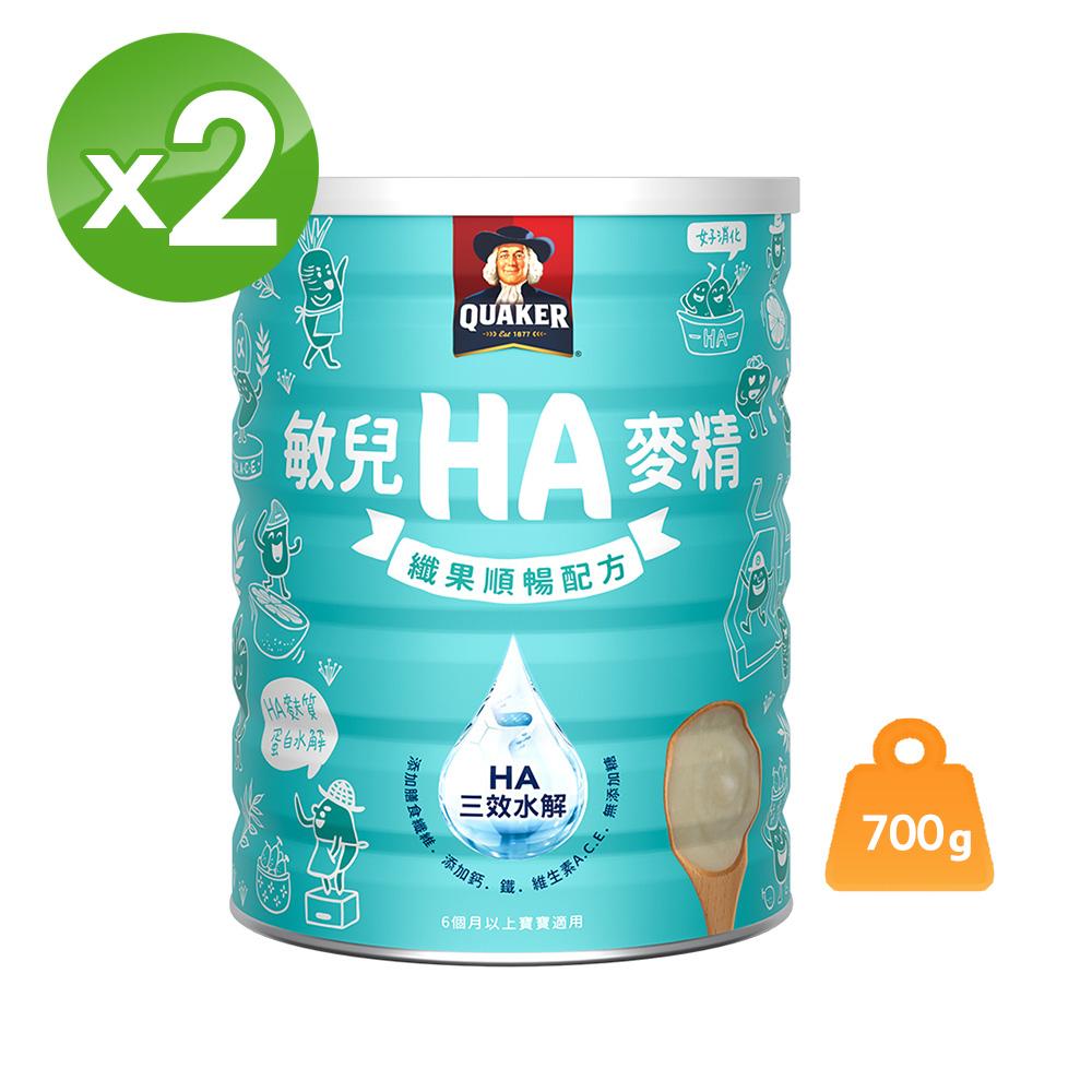 桂格 敏兒HA纖果順暢麥精(700gx2罐)