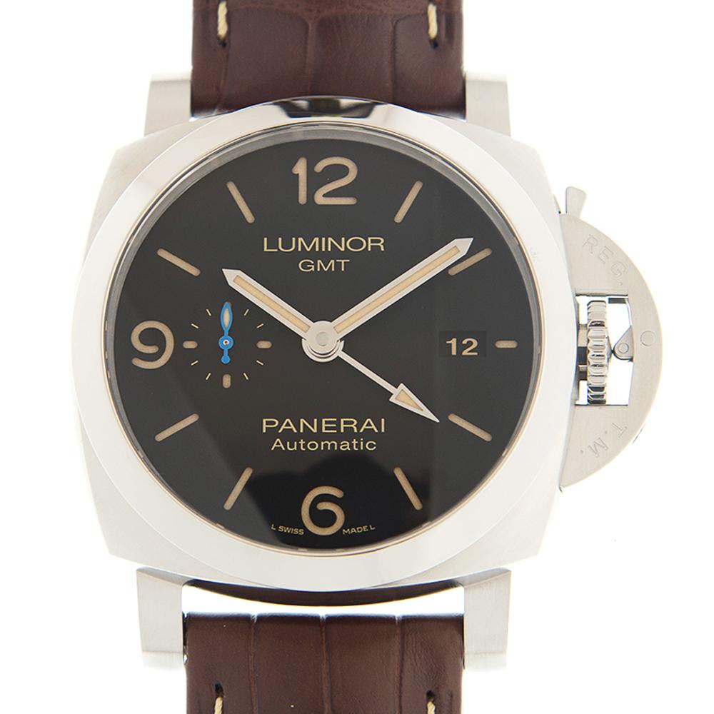 PANERAI 沛納海 LUMINOR  PAM01320 GMT黑色自動款x44mm