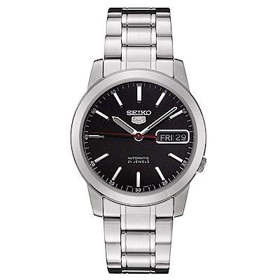 SEIKO精工 潮流型男夜光5號自動上鍊機械腕錶(SNKE53K1)-黑/38.5mm