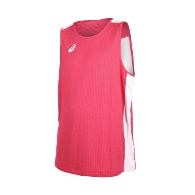 ASICS 男女雙面籃球背心-兩面穿 無袖上衣 訓練 籃球 亞瑟士 紅白